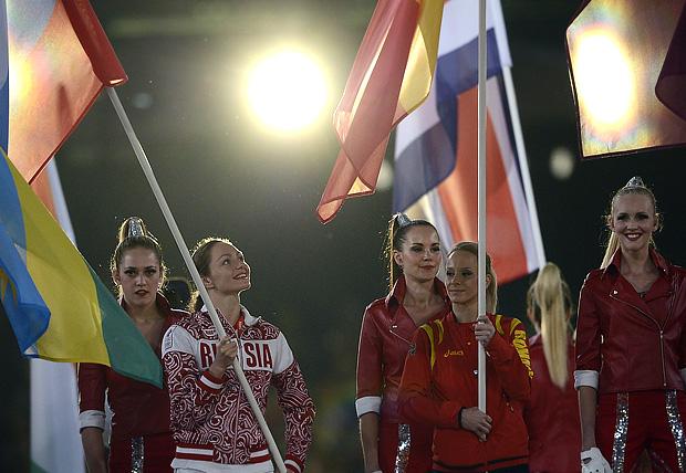 Анастасия Давыдова российский флаг