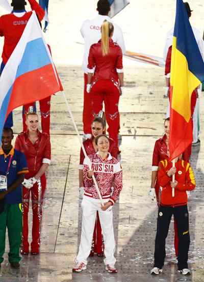 Анастасия Давыдова церемония закрытия олимпиады в Лондоне