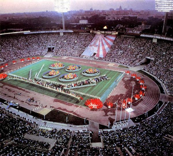 Олимпиада 80 в Москве церемония открытия