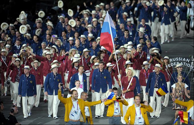 Мария Шарапова с флагом России