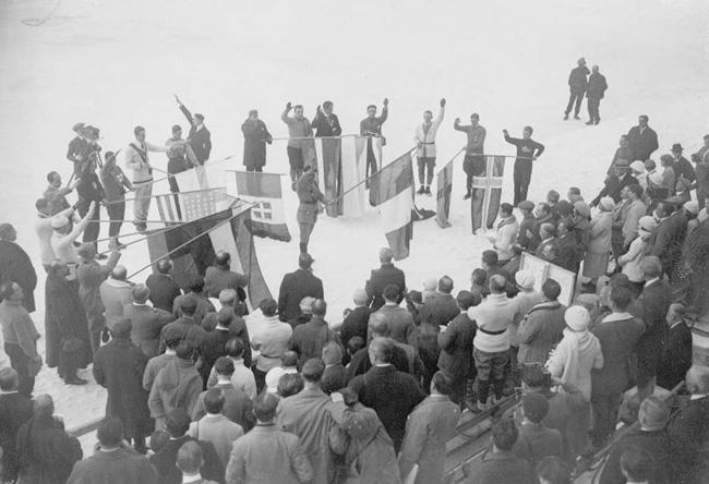 официальная церемония открытия первых зимних олимпийских игр
