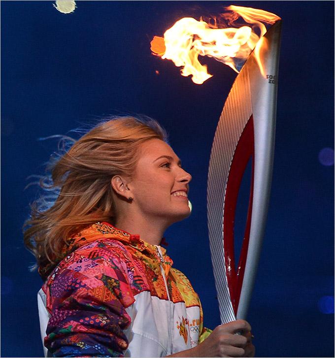 Мария Шарапова Сочи церемония открытия