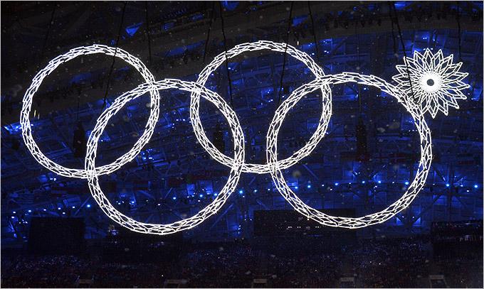 Сочи История Олимпийских игр Церемония открытия Сочи кольцо не раскрылось