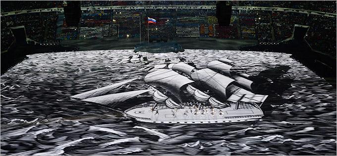 XXII зимние Олимпийские игры церемония открытия
